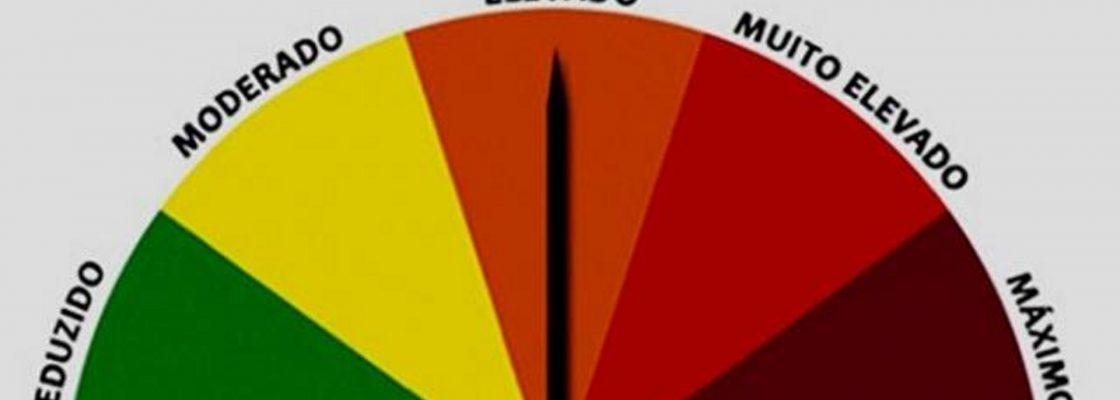 Alerta de risco de incêndio rural