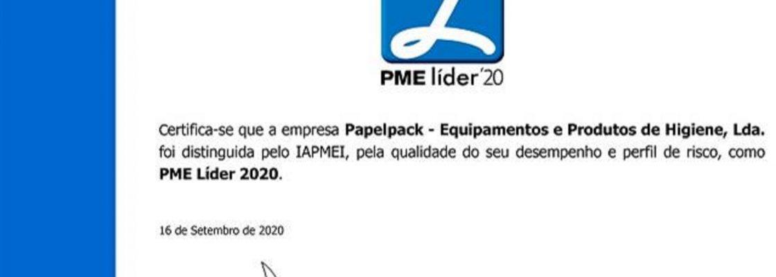 Mais um ano em que a PAPELPACK foi classificada com o estatuto de PME Líder