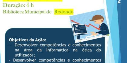 Competências Básicas em TI   12 junho   15h00   Biblioteca Municipal de Redondo