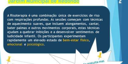 Ação: Risoterapia | 31 de julho | 18h00 | Jardim Municipal de Redondo