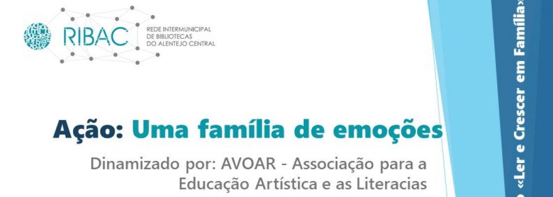 Ação: Uma família de emoções | 16 de outubro | 16h00 | Biblioteca Municipal de Redondo